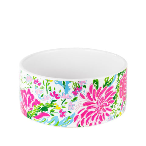 Lilly Pulitzer Dog Bowl in Bunny Business