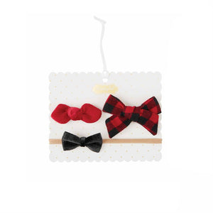 Buffalo Check Hair Clip & Headband Set
