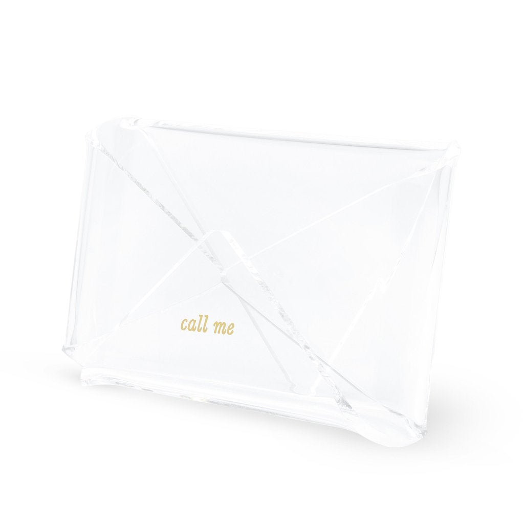 Kate Spade Acrylic Business Card Holder - Call Me