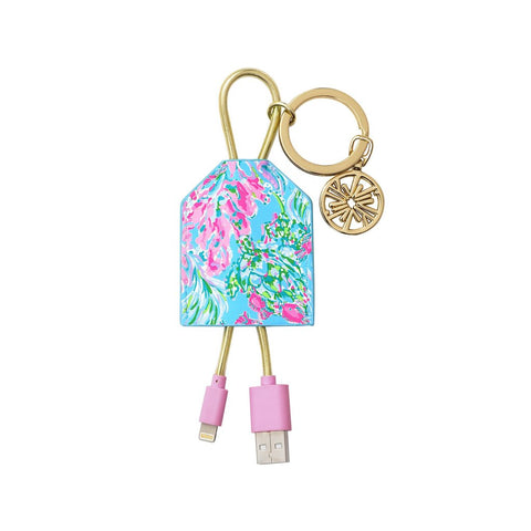 Lilly Pulitzer Charging Tag in Best Fishes