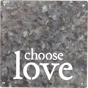 Metal Wall Art: Choose Love