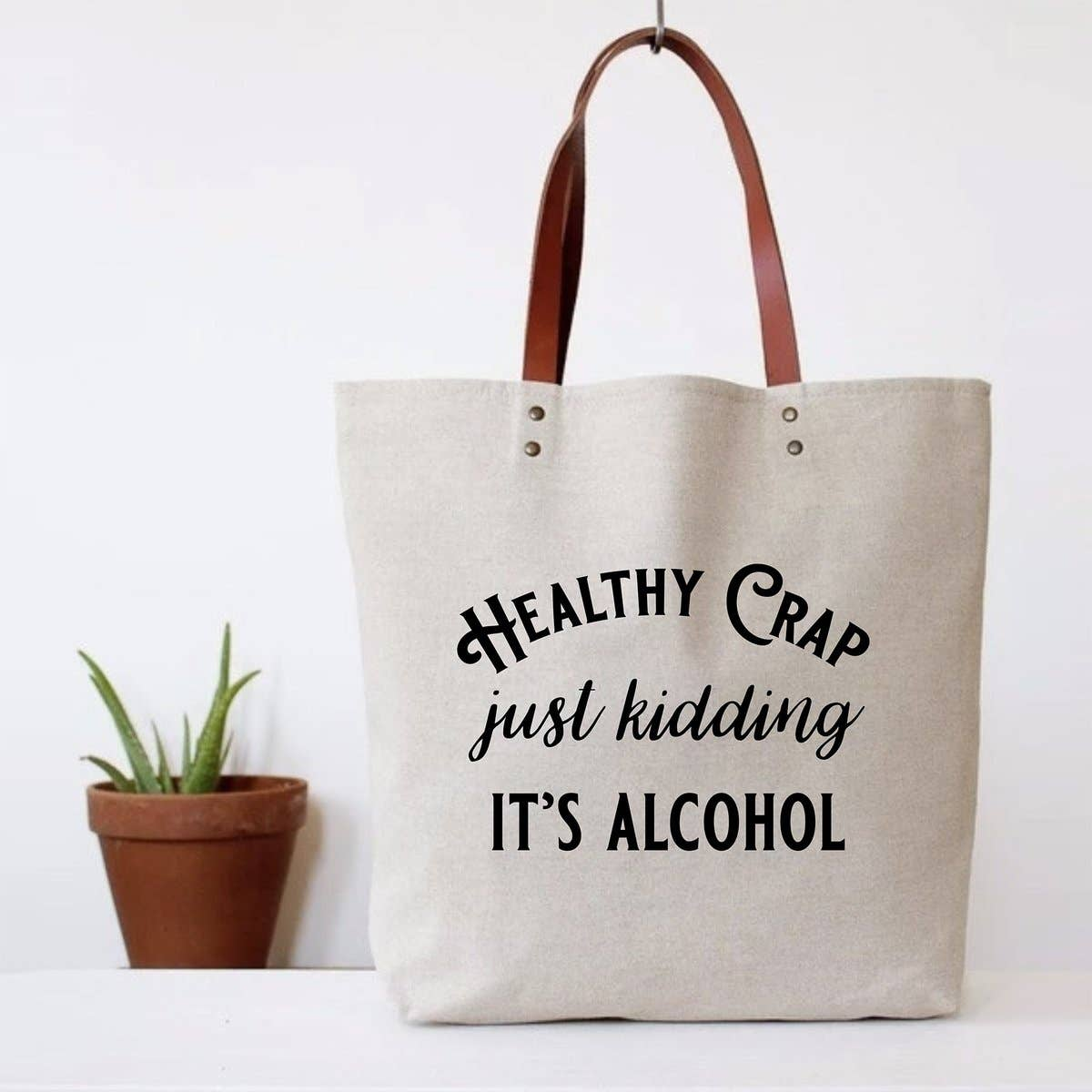 FUN CLUB - Healthy Crap Tote Bag