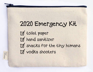 ellembee gift - 2020 Emergency Kit Canvas Zipper Top Printed  Pouches