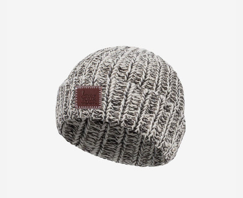 Love Your Melon Black Speckled BABY Beanie