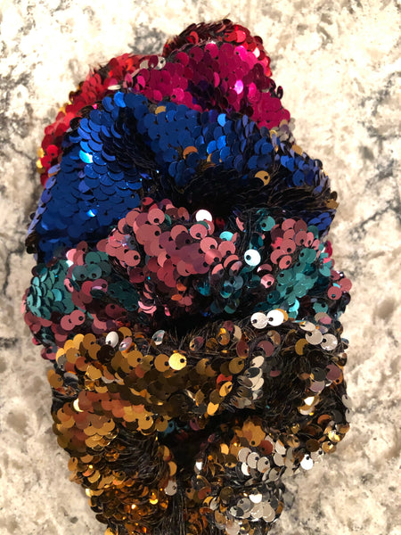 Sequin Hair Large Scrunches (mixed set of 10)