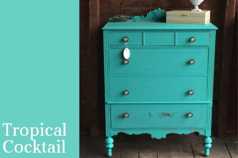 PINT (16 OZ) in Tropical Cocktail - Country Chic Paint - All-In-One Chalk-Style Paint