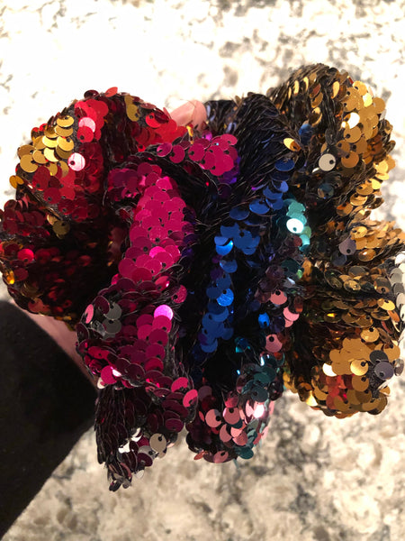 Sequin Hair Large Scrunches (set of 3)