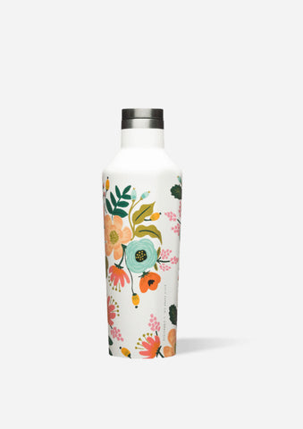 Corkcicle 16oz Canteen in Cream Lively Floral