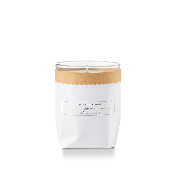Magnolia Home Kraft Textured Candle- Garden