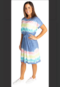 Simply Southern Coastal Tie Dye Dress in Dusk