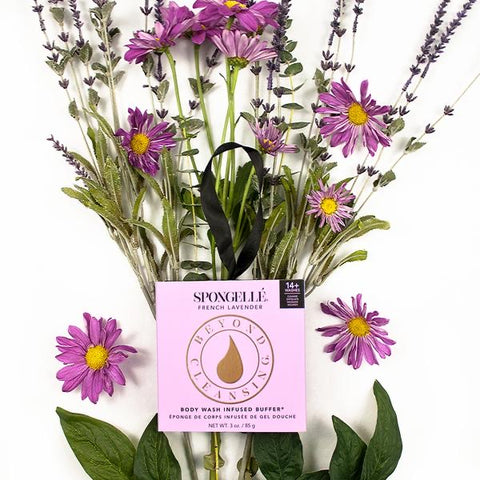 Spongellé Boxed Flower Body Wash Infused Buffer- French Lavender