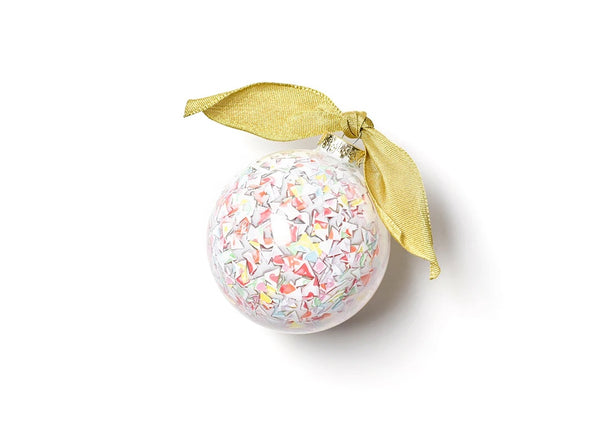Happy Everything! Confetti Glass Ornament