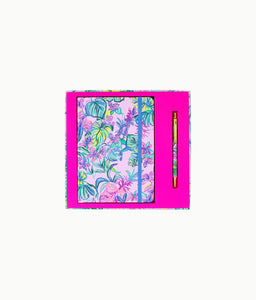 Lilly Pulitzer Journal With Pen in Mermaid in the Shade