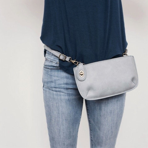 The Stella:  5 in 1 bag. Clutch, Crossbody, Wallet, Belt Bag, and Wristlet all in ONE!