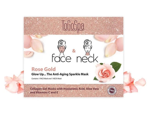 Rose Gold Face and Neck Mask: AKA The Anti-Aging Sparkle Mask