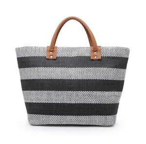 Harper Fabric Tote - Black Stripe
