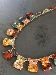 Evelyn Rhinestone Statement Necklace