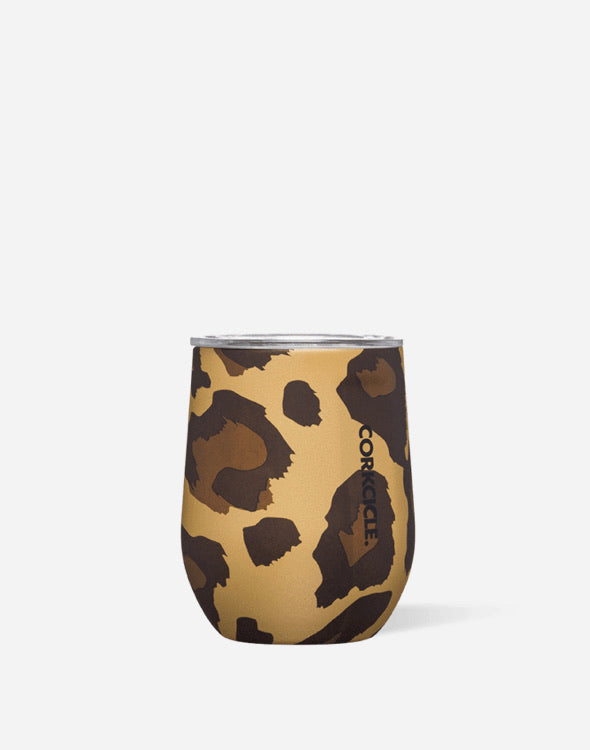 Corkcicle 12oz Stemless in Luxe Leopard