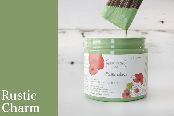 PINT (16 OZ) in Rustic Charm - Country Chic Paint - All-In-One Chalk-Style Paint