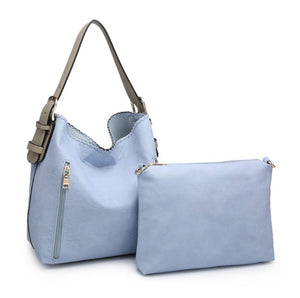 Alexa 2-in-1 Hobo Bag - Periwinkle