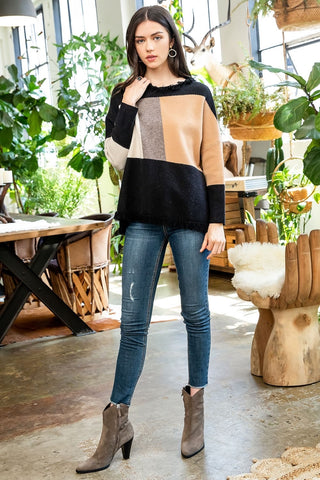 Festival Color Block Sweater