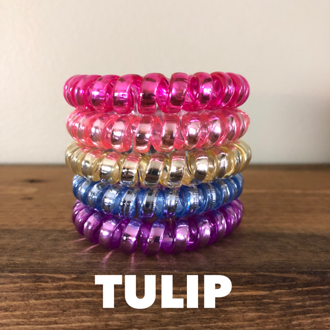 Large Metallic Hair Coils: Tulip