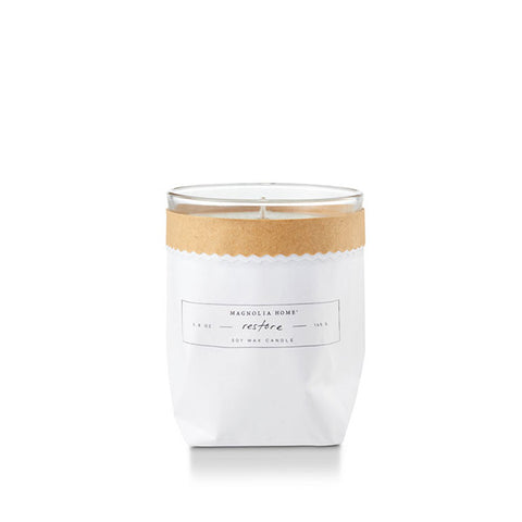 Magnolia Home Kraft Textured Candle- Restore