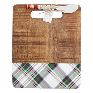 Holidays Plaid Serving Board