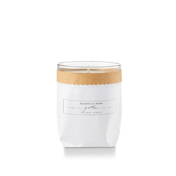 Magnolia Home Kraft Textured Candle- Gather