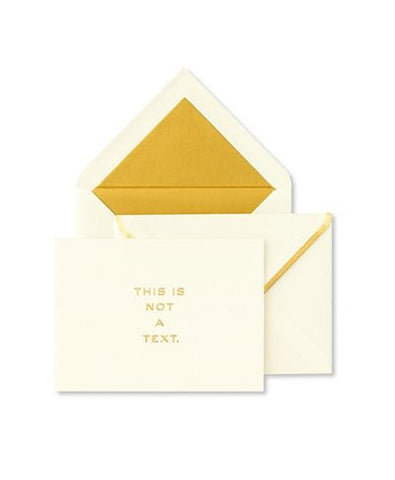 "Kate Spade ""This Is Not A Text"" Notecards"