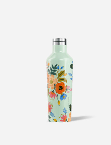 Corkcicle 16oz Canteen in Mint Lively Floral