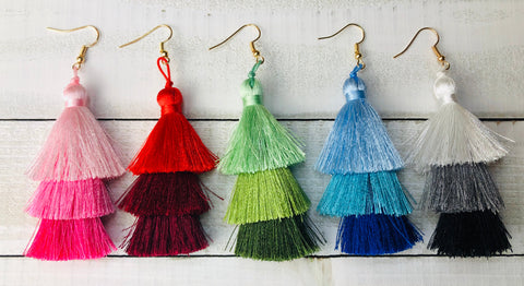 Ombré Tassel Earrings