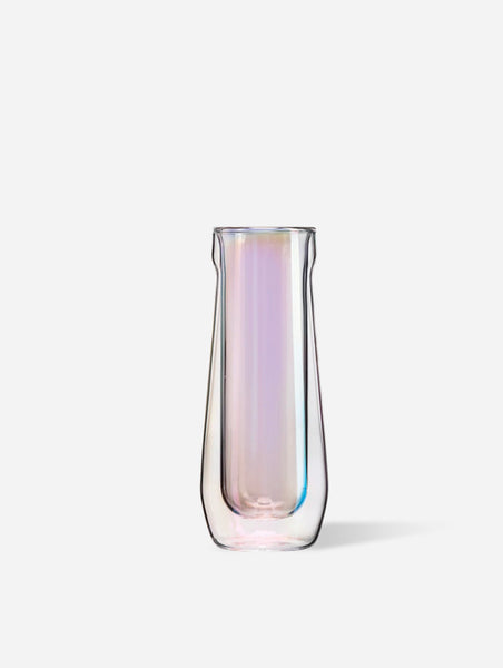 Corkcicle 7oz Glass Flute in Prism - Set of 2