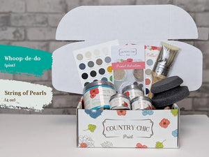 Whoopdedoo(16oz) & String of Pearls(4oz) - Country Chic Paint - Large Starter Kit