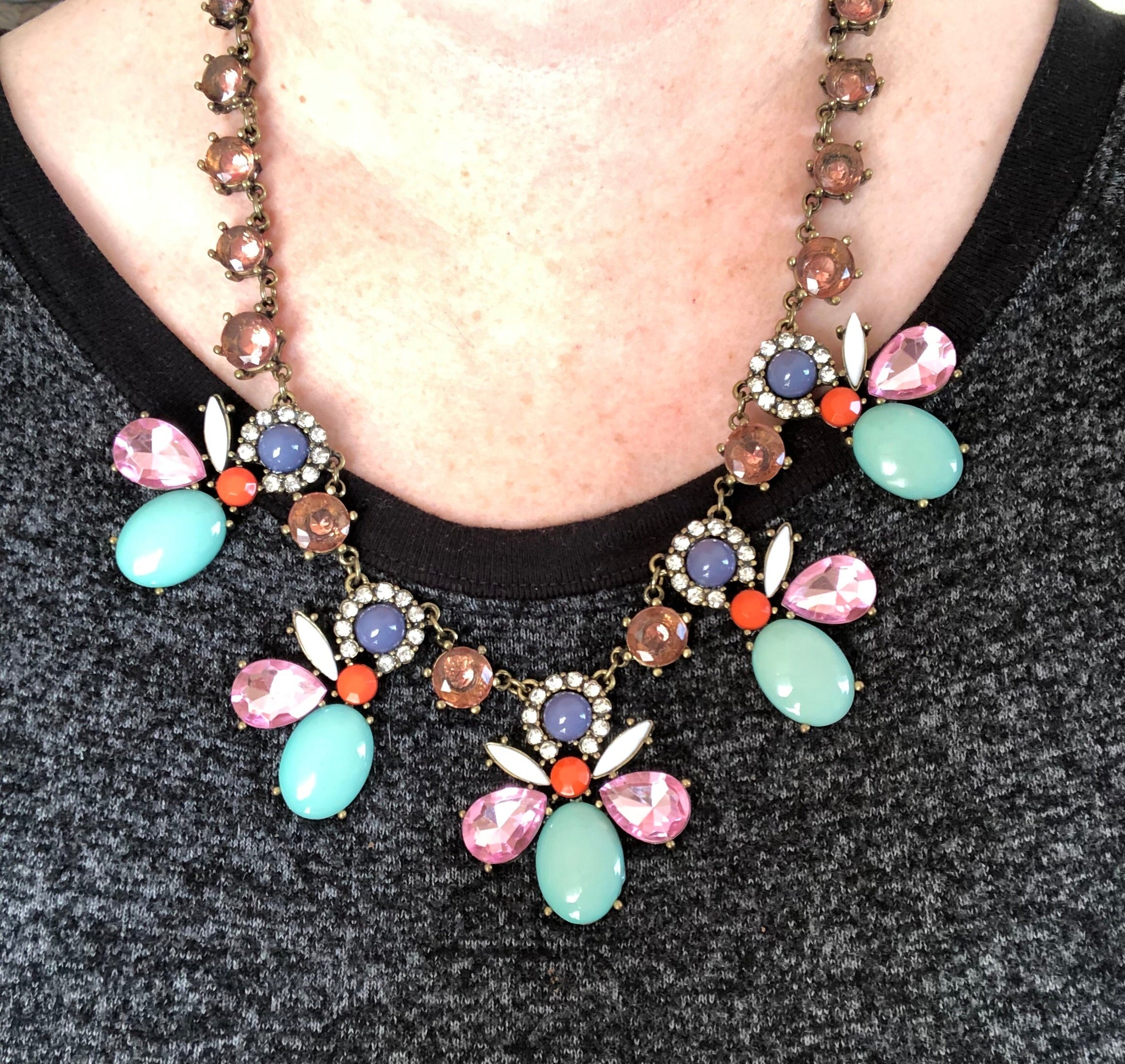 Emma Rhinestone Statement Necklace