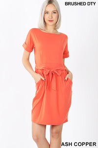 The Callie Dress in Ash Copper