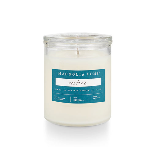 Magnolia Home Glass Jar Candle- Restore