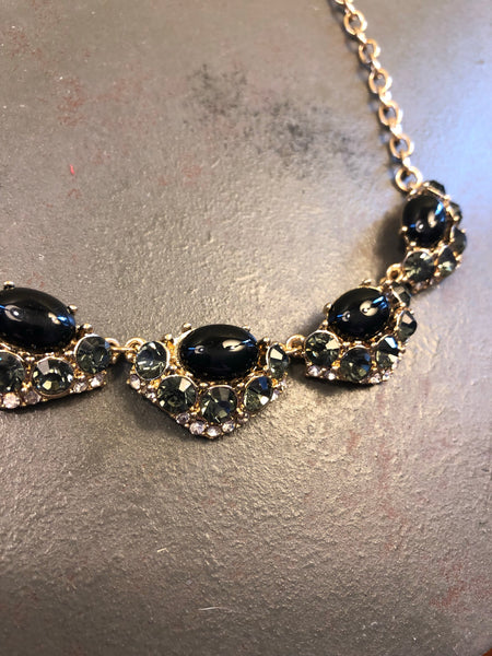 Sarah Rhinestone Statement Necklace
