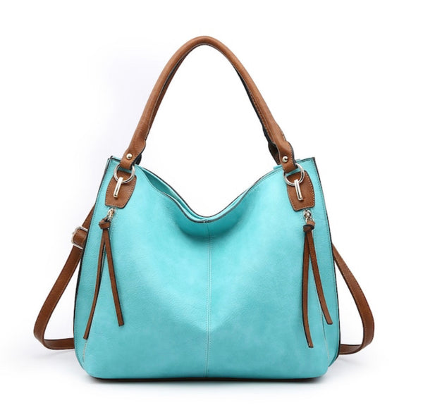 The Annie Convertible Travel Tote- Turquoise