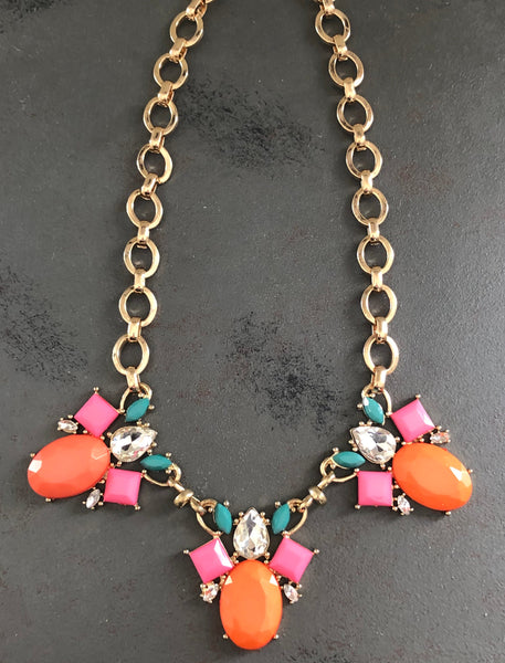 Melissa Rhinestone Statement Necklace