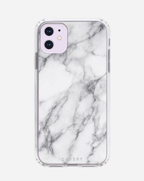 Casery White Marble iPhone Case