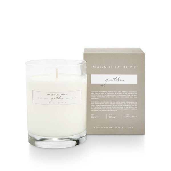 Magnolia Home Boxed Glass Candle- Gather
