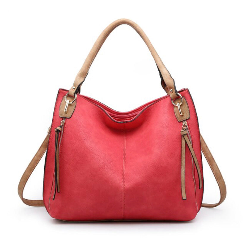 The Annie Convertible Travel Tote- Hot Pink