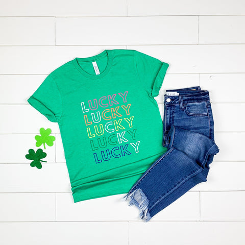 Lucky Tee : 6 bright fun 🤩 colors