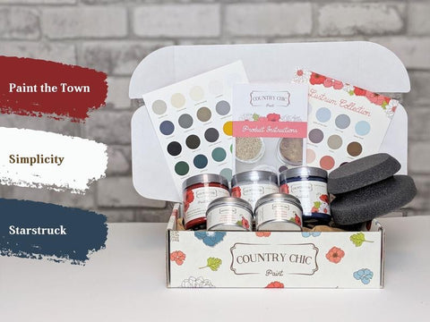 Starstruck, Simplicity & Paint the Town - Country Chic Paint - Medium Starter Kit