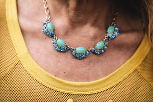 Emily Rhinestone Statement Necklace