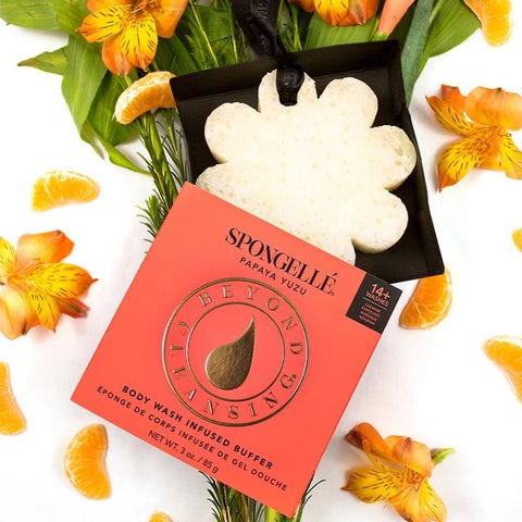 Spongellé Boxed Flower Body Wash Infused Buffer- Papaya Yuzu