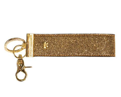 Simply Southern Leather Key Fob- Gold
