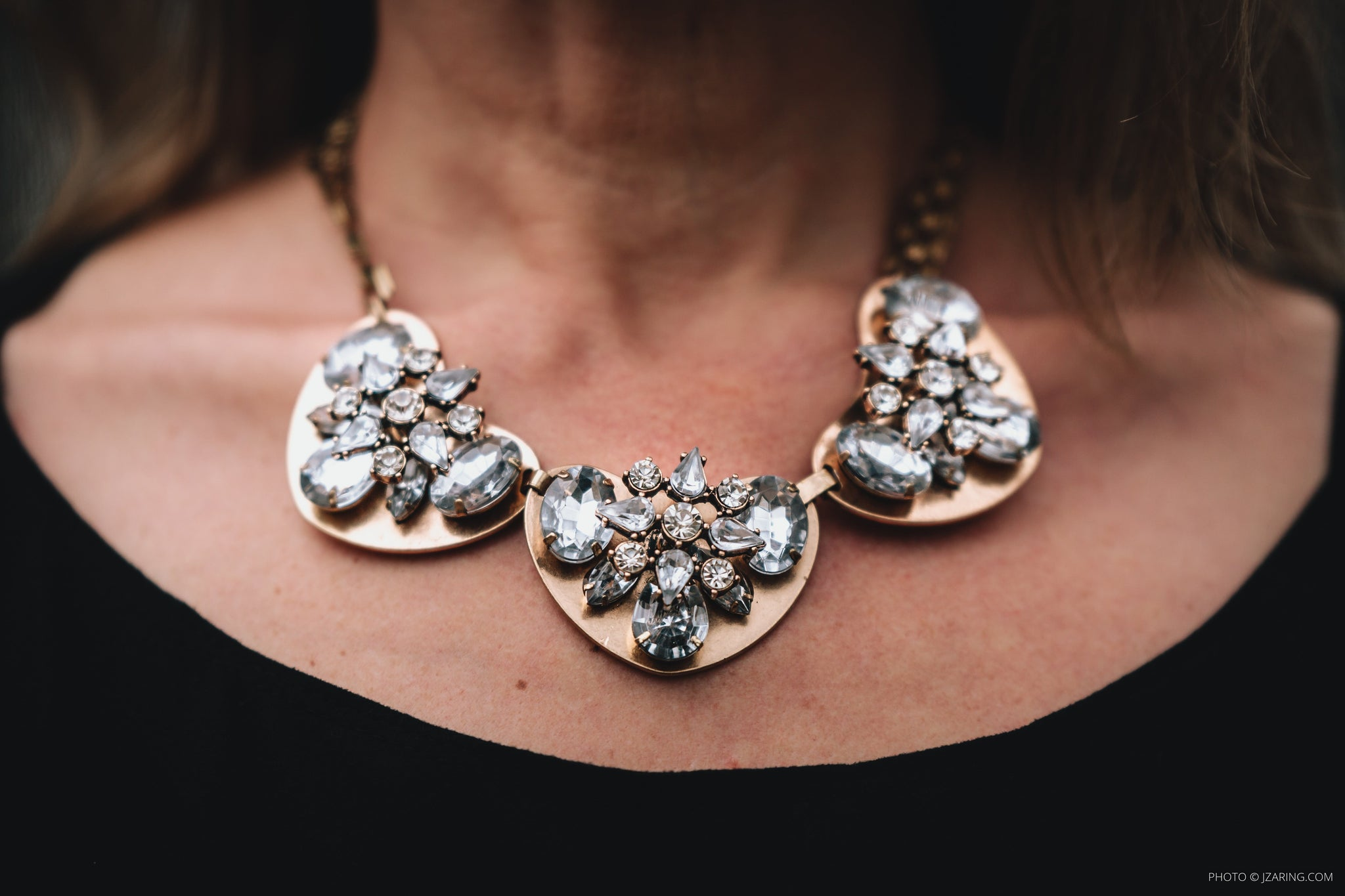 Clare Rhinestone Statement Necklace