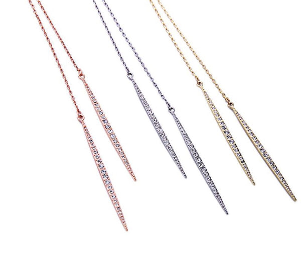 Pave Lariat Necklace